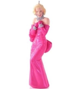 Pink Dress Marilyn Monroe Ornament