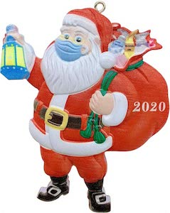 Masked Santa Claus 2020 Christmas Ornament