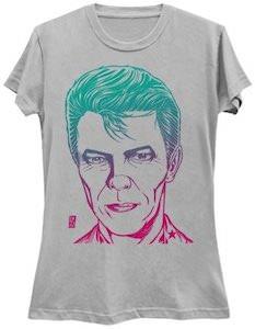 Color Gradient David Bowie Portrait T-Shirt