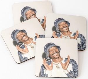 Snoop Dog Party Coasters